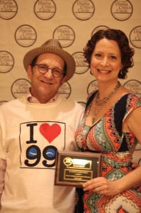 Producer Gary Grossman and LADCC recipient Robin Larsen