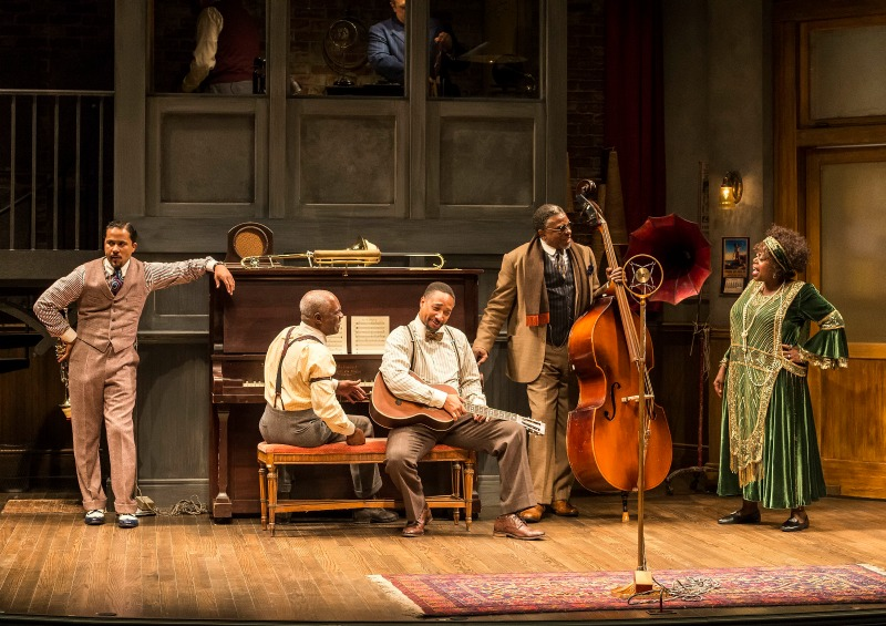 L-R: Jason Dirden, Glynn Turman, Damon Gupton, Keith David and Lillias White in August Wilson?s ?Ma Rainey?s Black Bottom,? directed by Phylicia Rashad, playing through October 16, 2016, at Center Theatre Group/Mark Taper Forum at the Los Angeles Music Center. For tickets and information, please visit CenterTheatreGroup.org or call (213) 628-2772. Contact: CTGMedia@ctgla.org/ (213) 972-7376. Photo by Craig Schwartz.