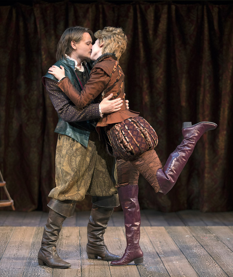 Paul David Story and Carmela Corbett in South Coast Repertory's 2018 production of SHAKESPEARE IN LOVE