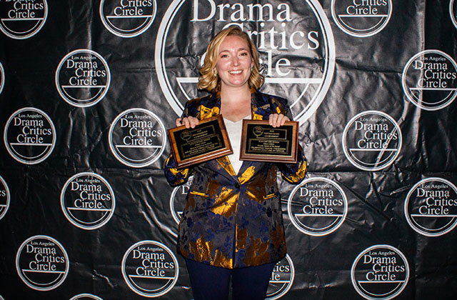 Allison Dillard, double winner for her Costume Designs for Celebration Theatre's Priscilla, Queen of the Desert and Moving Arts'  BLISS (or Emily Post is Dead!)