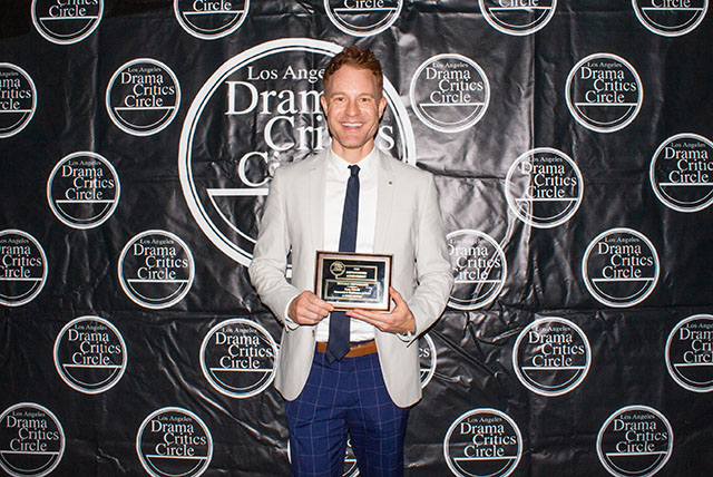 Kasey Mahaffy, award winner for his Featured Performance in A Noise Within's Rosencrantz and Guildenstern Are Dead