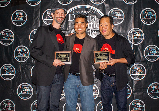 Thomas McCurdy, Thomas Isao Morinaka and Aaron Aoki, Fight Choreography winners for Vietgone, East West Players